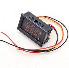 DC 4.5-30V 0-50A Dual LED Digital Volt meter Ammeter Voltage AMP Power Meter 12v