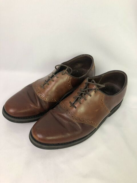 DEXTER men's shoes brown leather saddle oxfords SIZE 10.5 W VINTAGE MADE IN USA