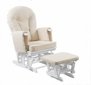 Image Is Loading Serenity White Nursing Glider Maternity Gliding Rocking  Chair