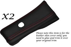 RED STITCH FITS NISSAN 300ZX Z32 JDM 90-96 2X SIDE DOOR PILLAR TRIM LTHR COVERS