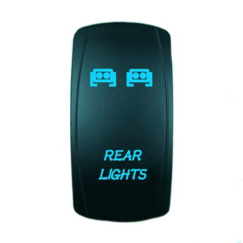 POLARIS RZR XP 900 RZR S Ranger UTV BLUE ROCKER SWITCH Backlit LED REAR LIGHTS
