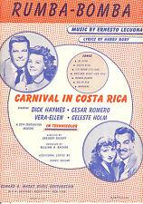 "CARNIVAL IN COSTA RICA Sheet Music ""Rumba-Bomba"" Vera Ellen Dick Haymes"