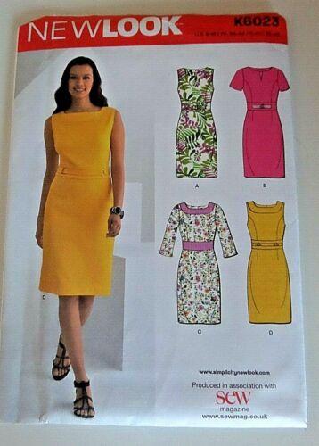 Sewing Pattern Donna Abito Sera d/'estate SMART NEW LOOK K6023