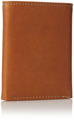 Timberland Cloudy Passcase Tan Genuine Leather Credit Card Trifold Men Wallet