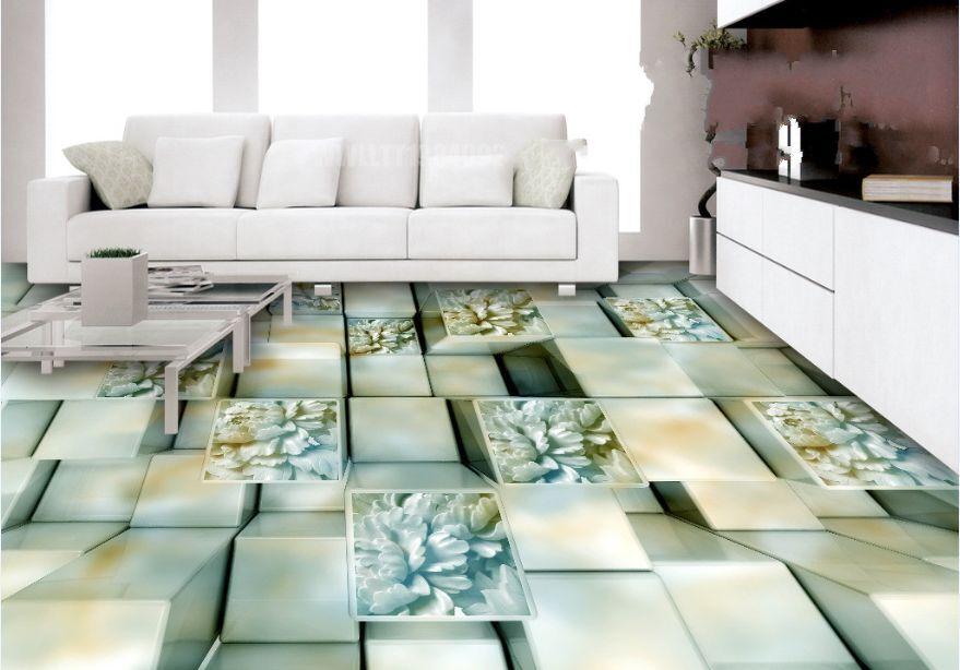 3D intaglio griglia Pavimento Foto Wallpaper Murales Muro Stampa Decalcomania
