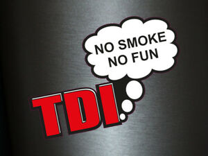 1 x Aufkleber TDI No Smoke No Fun Turbodiesel Turbo Diesel Sticker Tuning Fun
