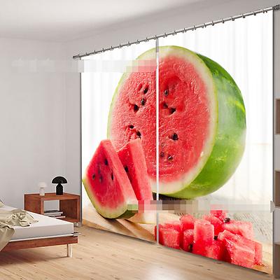 2019 Neuestes Design 3d Wassermelone 44 Blockade Foto Vorhang Druckvorhang Vorhänge Stoff Fenster De