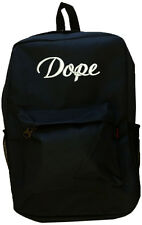 Black DOPE Backpack Bag Hipster Streetwear School College Trend It Item