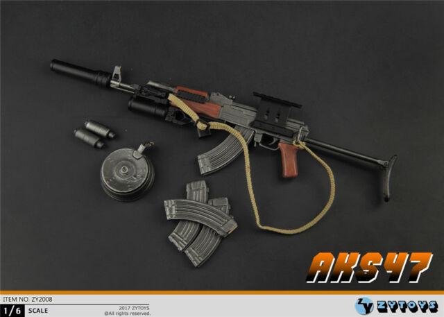 """ASTOYS AS030 1//6 AK47 AKM Tactical Rifle Gun Weapon Model Toys F 12/"""" Figure Body"""