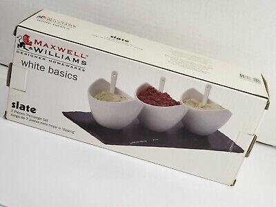 Maxwell Williams Designer Homewares White Basics Slate 7 Piece Dipping Set Ebay