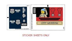 Lego 1x Sticker Autocollant City 60008 Museum Break-in police musée NEUF