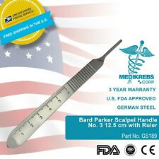 Bard Parker Scalpel Handle No 3 125 Cm With Ruler Surgical Instrument