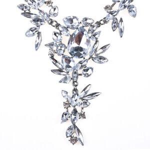 Fashion-Chain-Crystal-Necklace-Jewelry-Statement-Bib-Pendant-Charm-Choker-Chunky