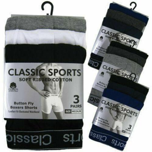 Men/'s Boxers Shorts Underwear 12 pairs High Quality Plain Rich Cotton M L XL XXL