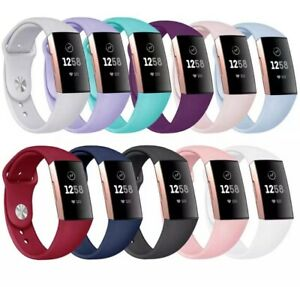 For-Fitbit-Charge-3-Charge-4-Wrist-Straps-Wristband-Silicone-Bracelet-Watch-Band