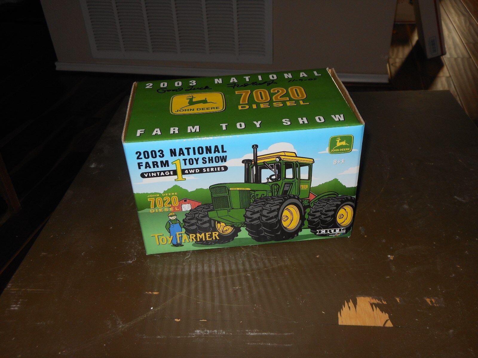 John Deere 7020 Toy Farmer tractor  (1 32)   Fred Ertl signature
