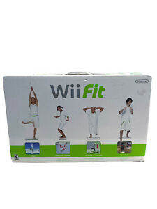 Nintendo Wii Fit Balance Board Bundle Plus Game Complete New Video Exercise Game