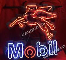 MOBIL MOTOR GAS & OILS Station Pegasus Horse Neon Sign Beer Light [BEST DESIGN]