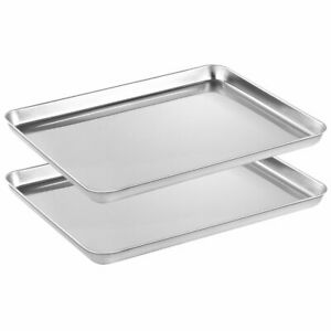 Stainless Steel Baking Sheets Set 2 Rectangle Size 16 X