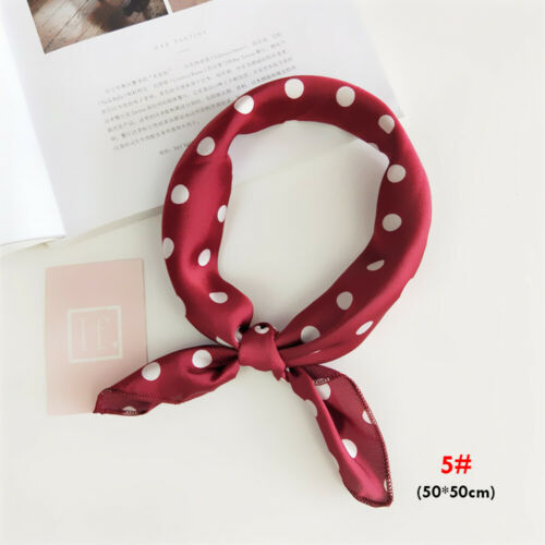 Scarves Hair Band Wraps Neck Tie Leopard Printed Square Scarf Silk Feel Satin