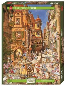 MICHAEL RYBA - ROMANTIC TOWN BY DAY - Heye Puzzle 29874 - 1000 Teile Pcs.