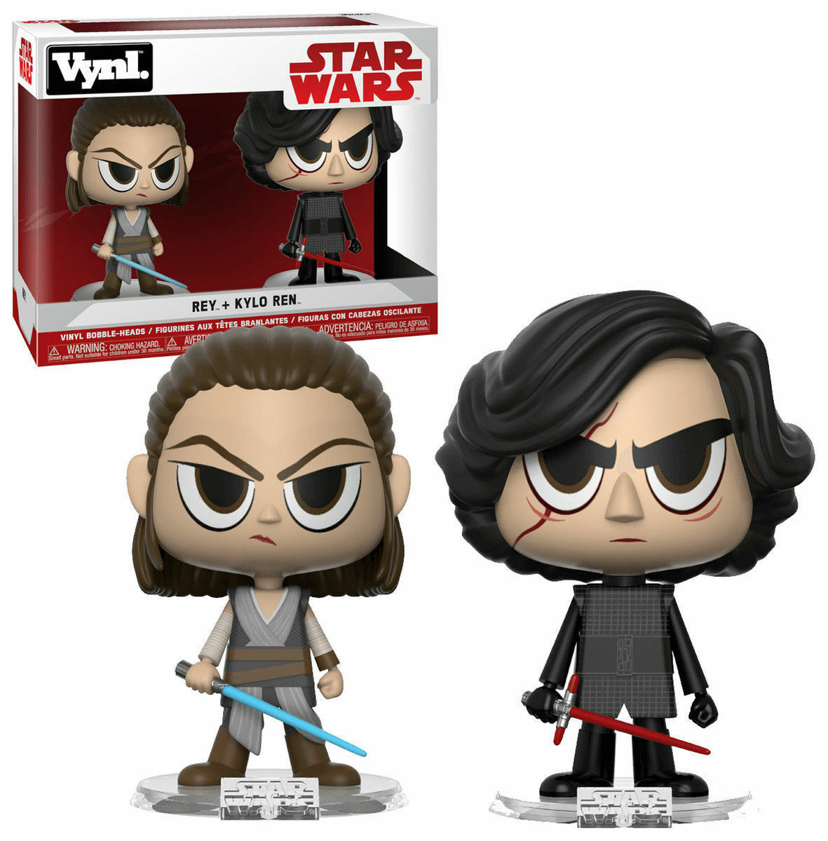 StarWars collection : Funko Vynl. Star Wars the Force Awakening REY + KYLO REN Le Réveil de la Force