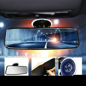 Universal-Car-Truck-Van-Wide-Flat-Interior-Rear-View-Mirror-Adjustable-Suction