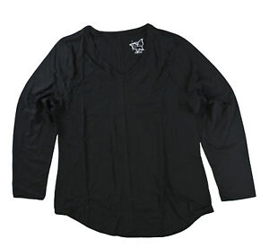 Just-My-Size-JMS-Plus-Women-Long-Sleeve-V-Neck-T-Shirt-Ebony-Black-4X-28
