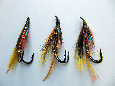 Salmon Fly,Munroe´s killer Pick a size Double Hook. 3-pack