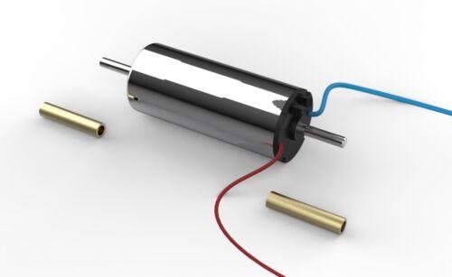 2 Wellen 2x 1.5mm Welle-adapter 7mm x 16mm Glockenankermotor 12V