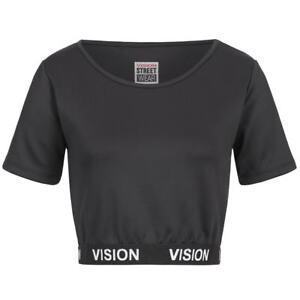 Turnschuhe für billige verschiedenes Design suchen Details zu Vision Street Wear Damen Fitness Bodycon Crop Top Sport Shirt  RWIV0009 neu