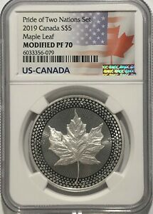 2019-5-SILVER-CANADIAN-MODIFIED-MAPLE-LEAF-NGC-PF70-PRIDE-OF-TWO-NATIONS