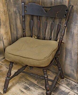 Burlap Chair Pad Cushion Vhc Brands