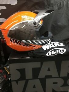 HJC Orange//Black CS-MX II Star Wars Rebel X-Wing Dirt Bike Helmet DOT MX ATV