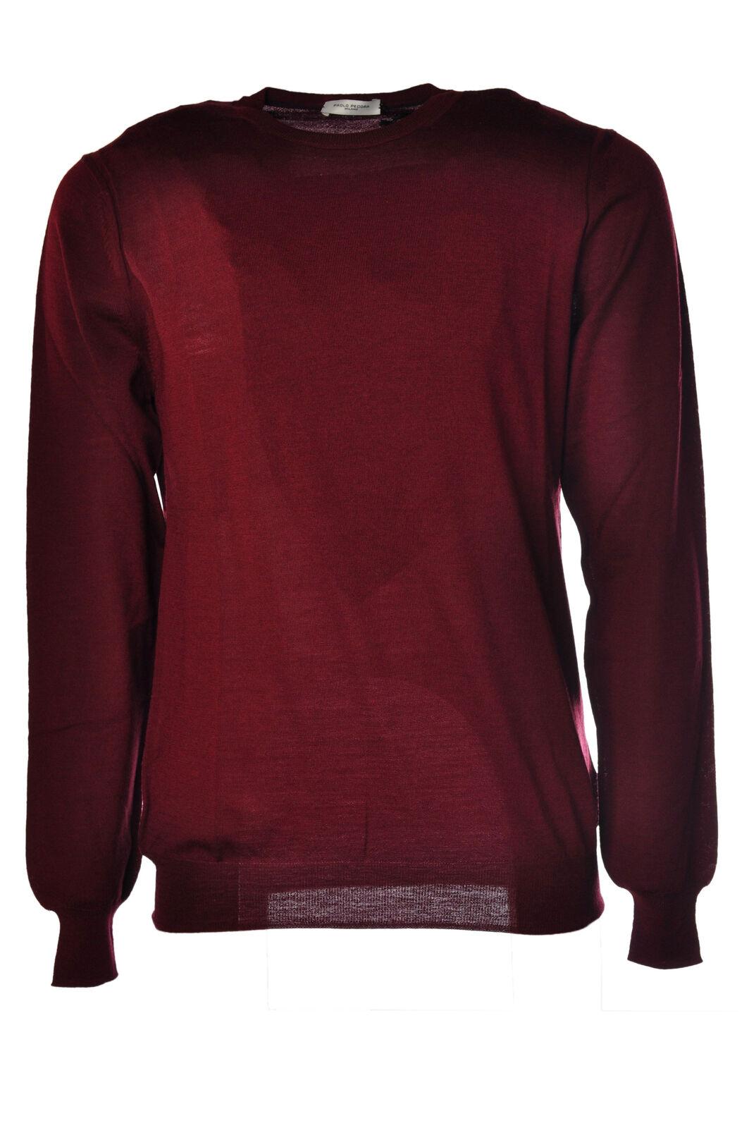 Paolo Pecora - Knitwear-Sweaters - Man - rot - 586315C183726