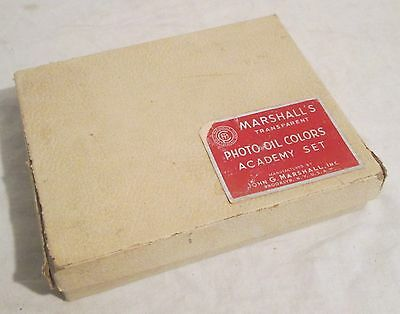 Vintage Photo Coloring Paints - MARSHALL'S PHOTO OIL COLORS, Academy Set, 1940s?