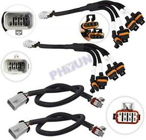 For-LS1-LS6-LSX-Coil-Pack-Relocation-Kit-w-Coil-Harness-amp-Extension-D580-4-Pcs