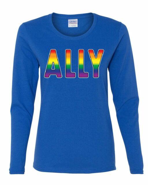 Gay Pride Ally Women/'s T-Shirt LGBT Gay Love Same Sex Marriage Rainbow Shirt