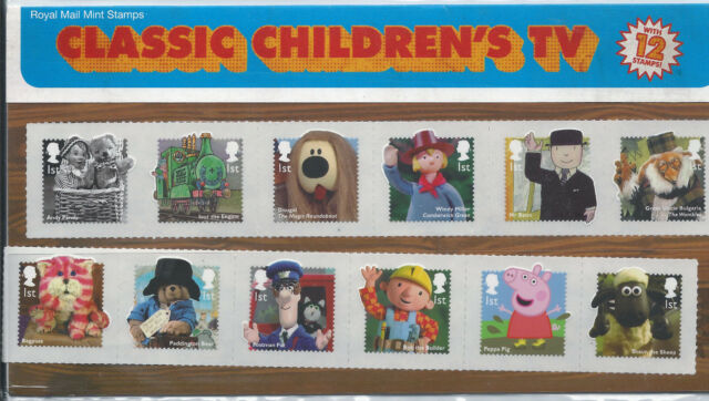 Royal Mail Presentation Pack Classic Children's TV - 12 Stamps