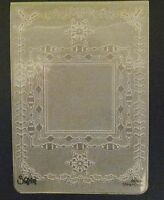 Sizzix Large Embossing Folder SQUARE CHRISTMAS FRAMES SNOWFLAKES fits Cuttlebug