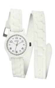 GUESS-w65023l1-Micro-Mini-Reloj-de-mujer-blanco-con-Pulsera-ENROLLABLE