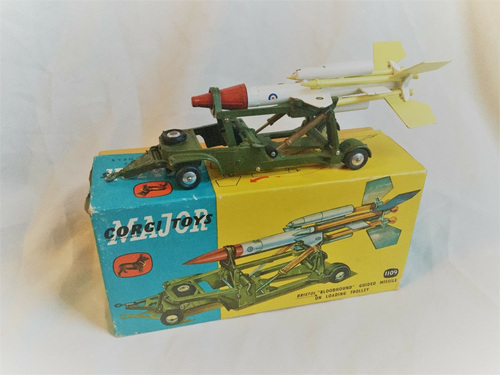 Corgi Toys Major no. 1109  Bloodhound  Guided Missile on Loading Trolley Boxed