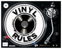 Vinyl Rules Turntable / DJ Slipmats