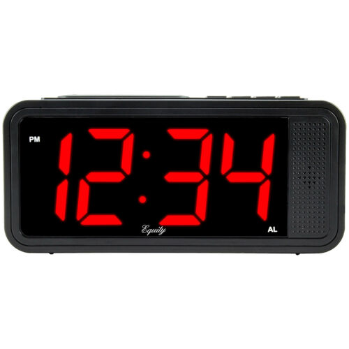 "75905 Equity by La Crosse 1.8/"" LED Quick Set Alarm Clock with High//Low Dimmer"
