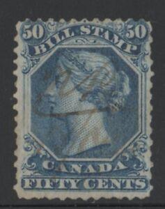 MOTON114-FB32B-perf-12-Feceral-bill-50c-Canada-used-RARE-cv-120