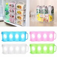 Beer Soda Can Storage Kitchen Organization Fridge Plastic Rack Saver Space