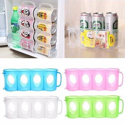 Beer Soda Can Holder Storage Kitchen Organization Fridge Rack Plastic Space