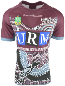68434d7f551 Image is loading Manly-Warringah-Sea-Eagles-2018-Indigenous-Jersey-Sizes-