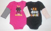 Walmart Infant Girls Long Sleeve Bodysuits 2 Styles Various Sizes To Choose