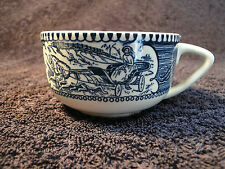 Currier Ives Royal China Blue and White Cup
